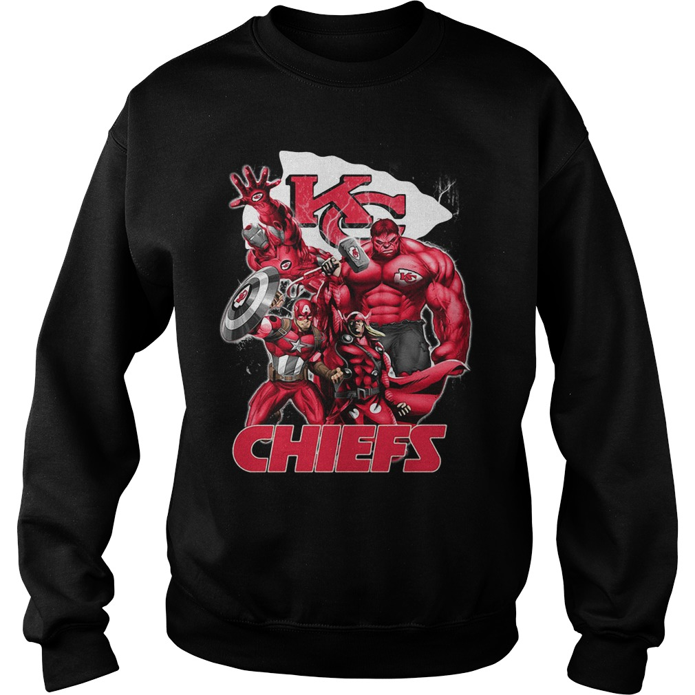 The Avengers Kansas City Chiefs Sweater
