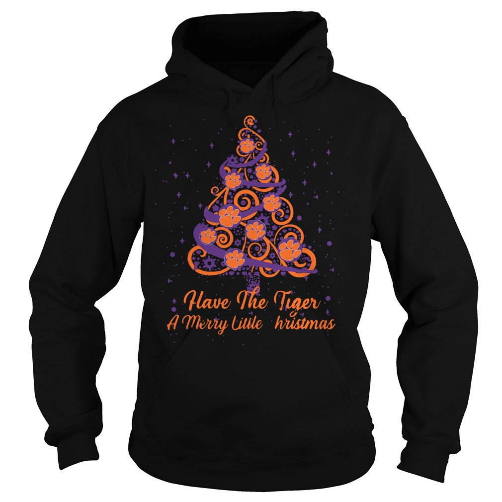 Clemson Tiger Have The Tiger A Merry Little Christmas Tree Hoodie