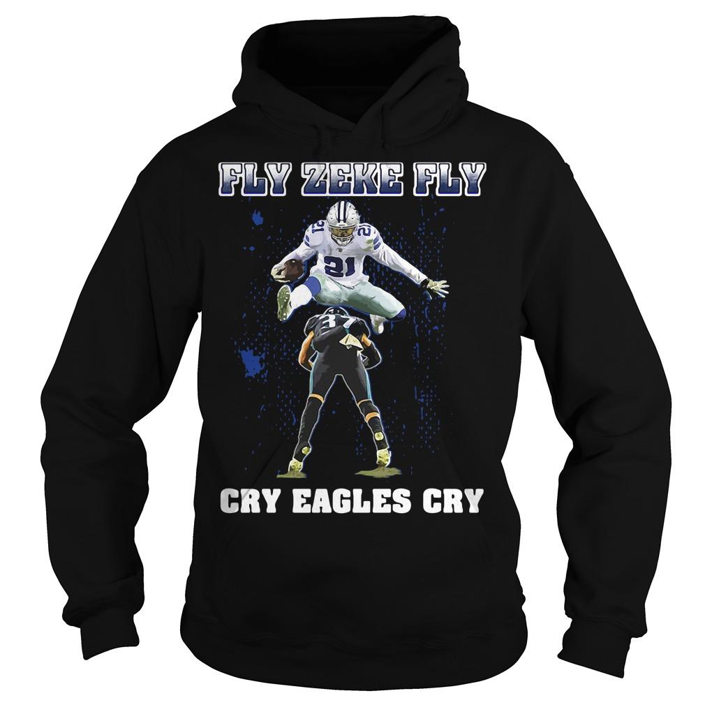 Dallas Cowboys Fly Zeke Fly Philadelphia Eagles Cry Eagles Cry Shirt
