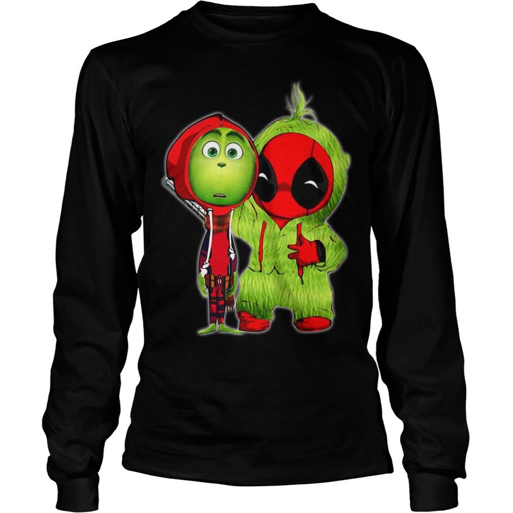 The Grinch And Deadpool Baby Christmas Longsleeve tee