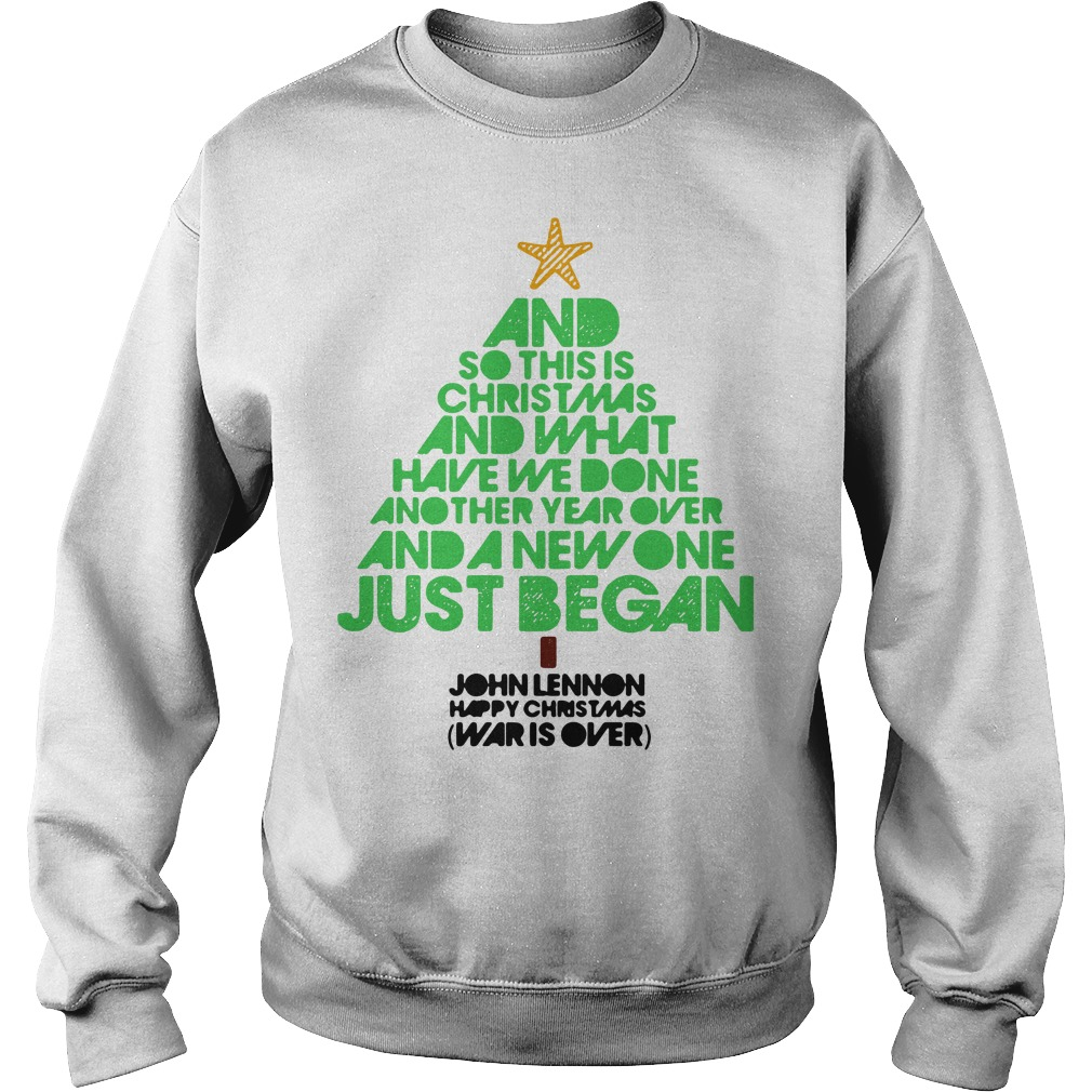 John Lennon Happy Christmas War Is Over sweater