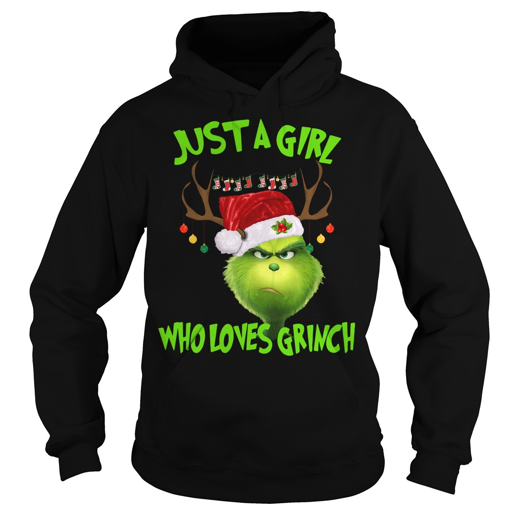 Just A Girl Who Loves Grinch Christmas Hoodie