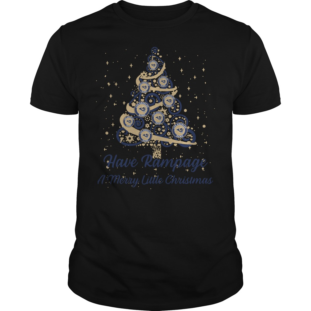 Los Angeles Rams Have Rampage A Merry Little Christmas Tree Guys Shirt