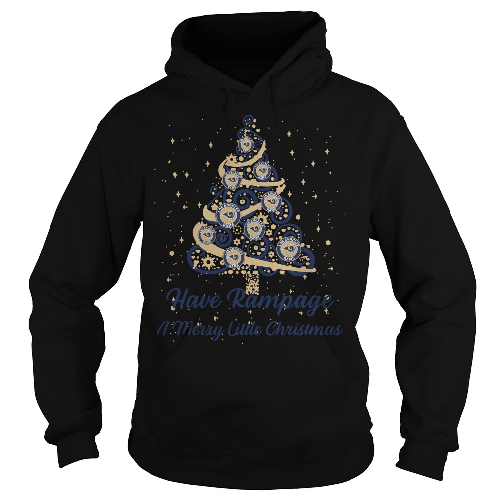 Los Angeles Rams Have Rampage A Merry Little Christmas Tree Hoodie