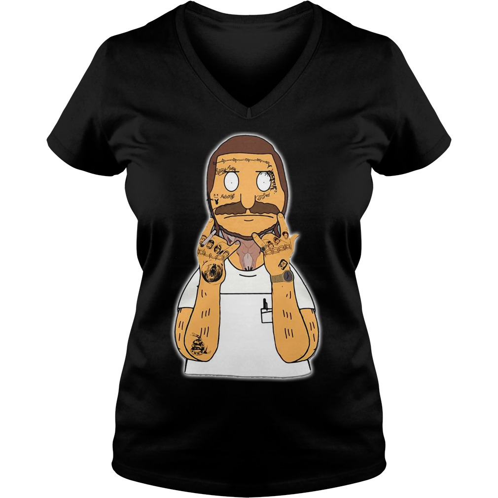 Post Malone Bob Belcher V-neck T-shirt