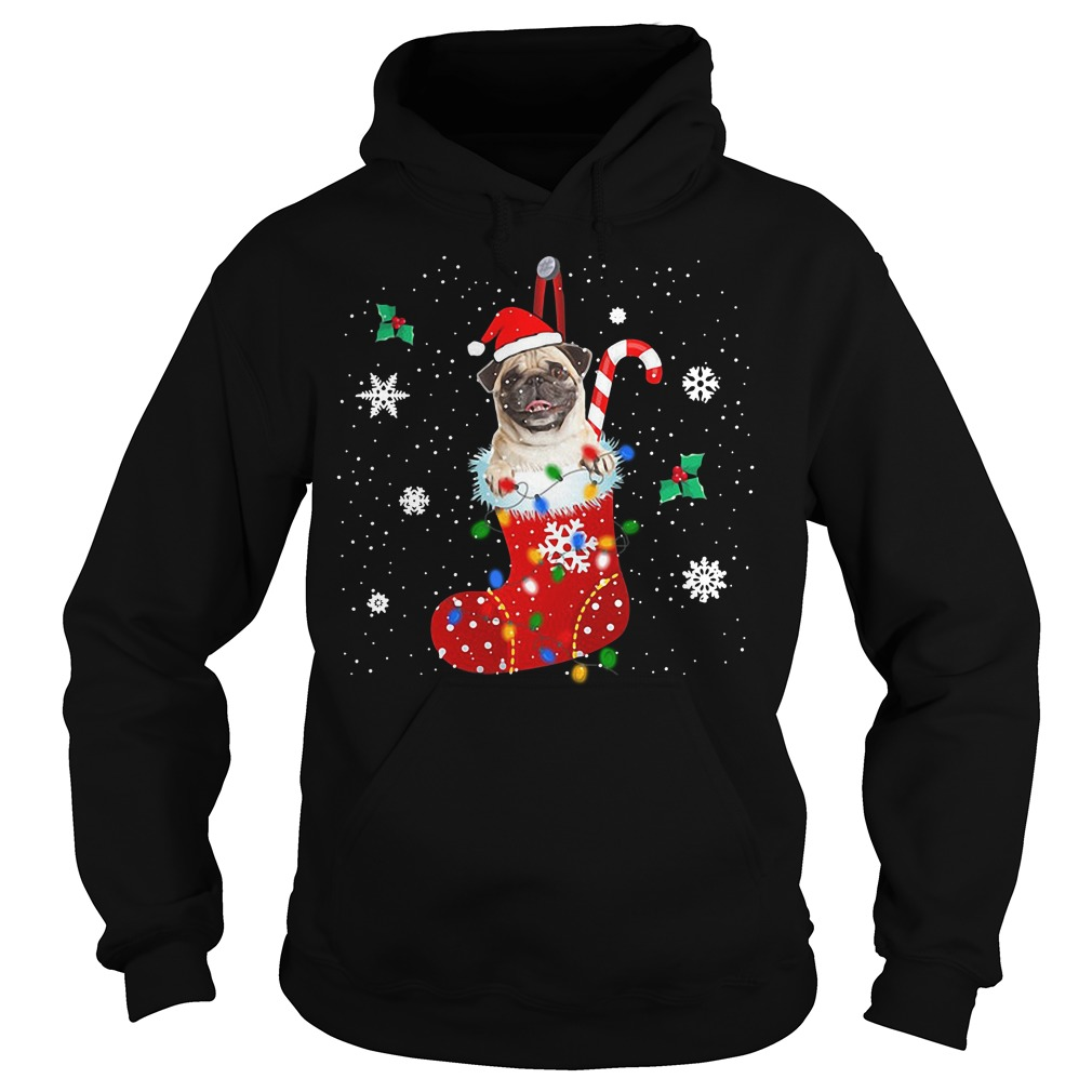 Pug Christmas Ugly Hoodie