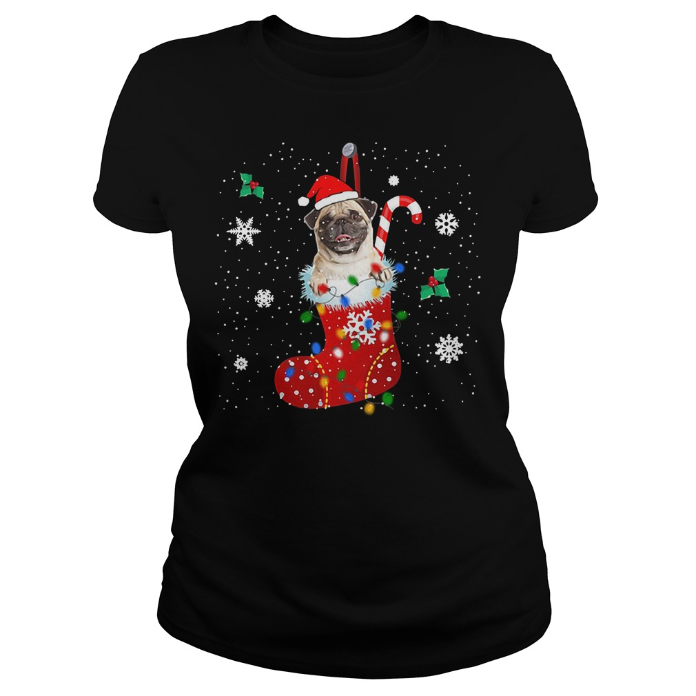 Pug Christmas Ugly Ladies Tee