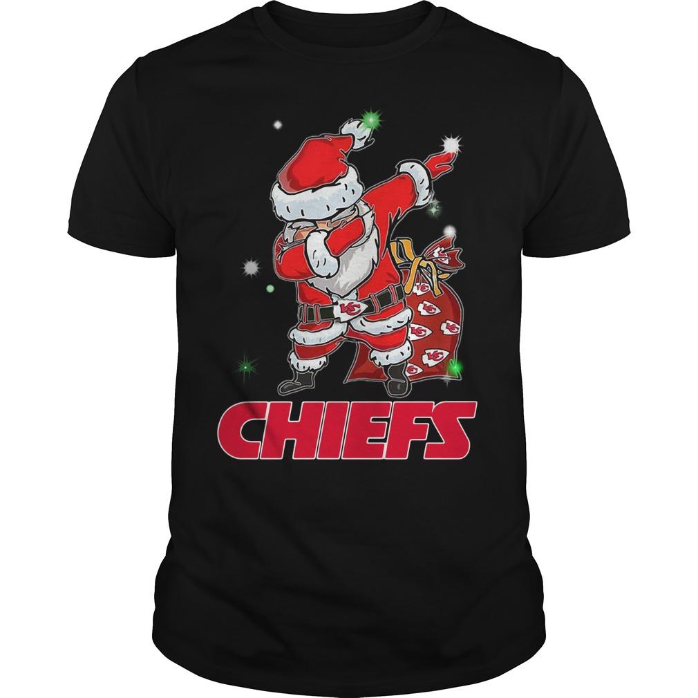 Santa Kansas City Chiefs Dabbing Christmas Ugly Guys Shirt