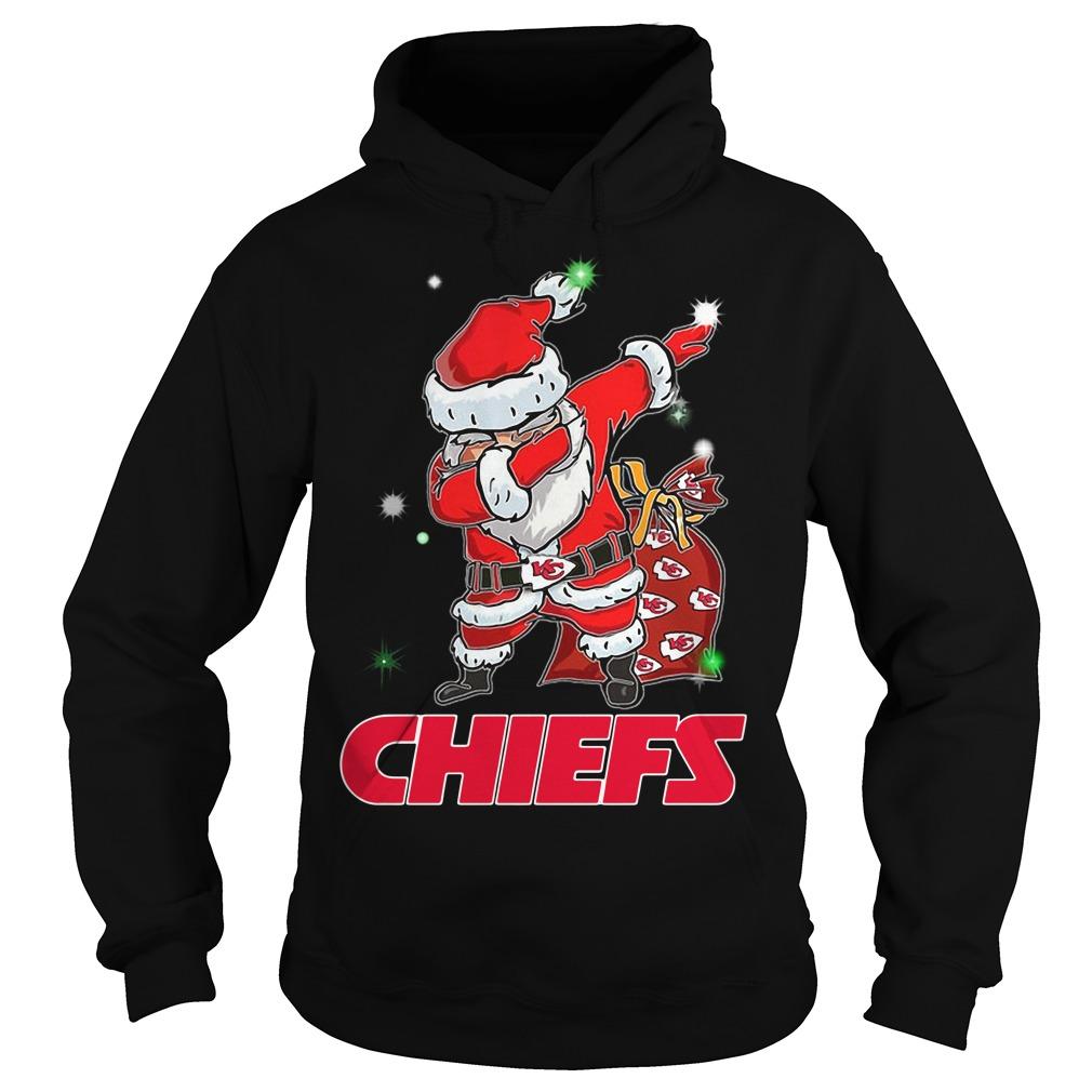 Santa Kansas City Chiefs Dabbing Christmas Ugly Hoodie