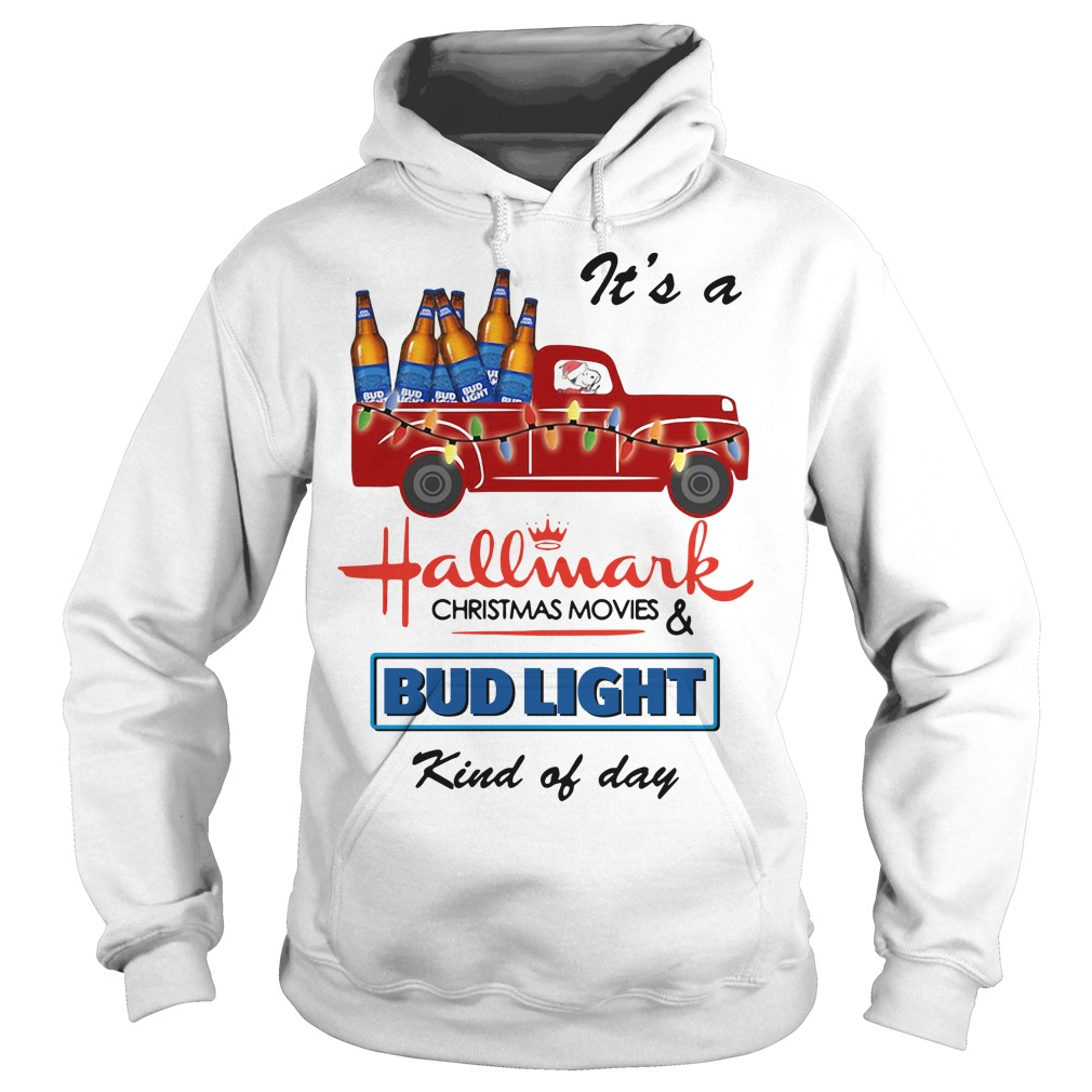 Snoopy It's A Hallmark Christmas Movies Bud Light Kind Of Day Hoodie