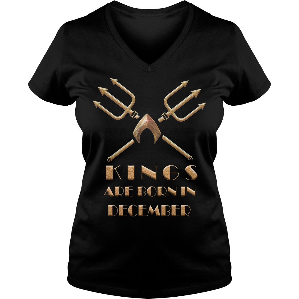 Aquaman Kings Are Born In December V-neck T-shirt