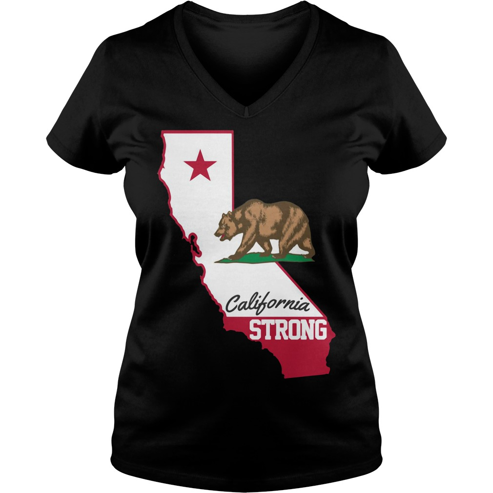 Bears California Strong V-neck T-shirt