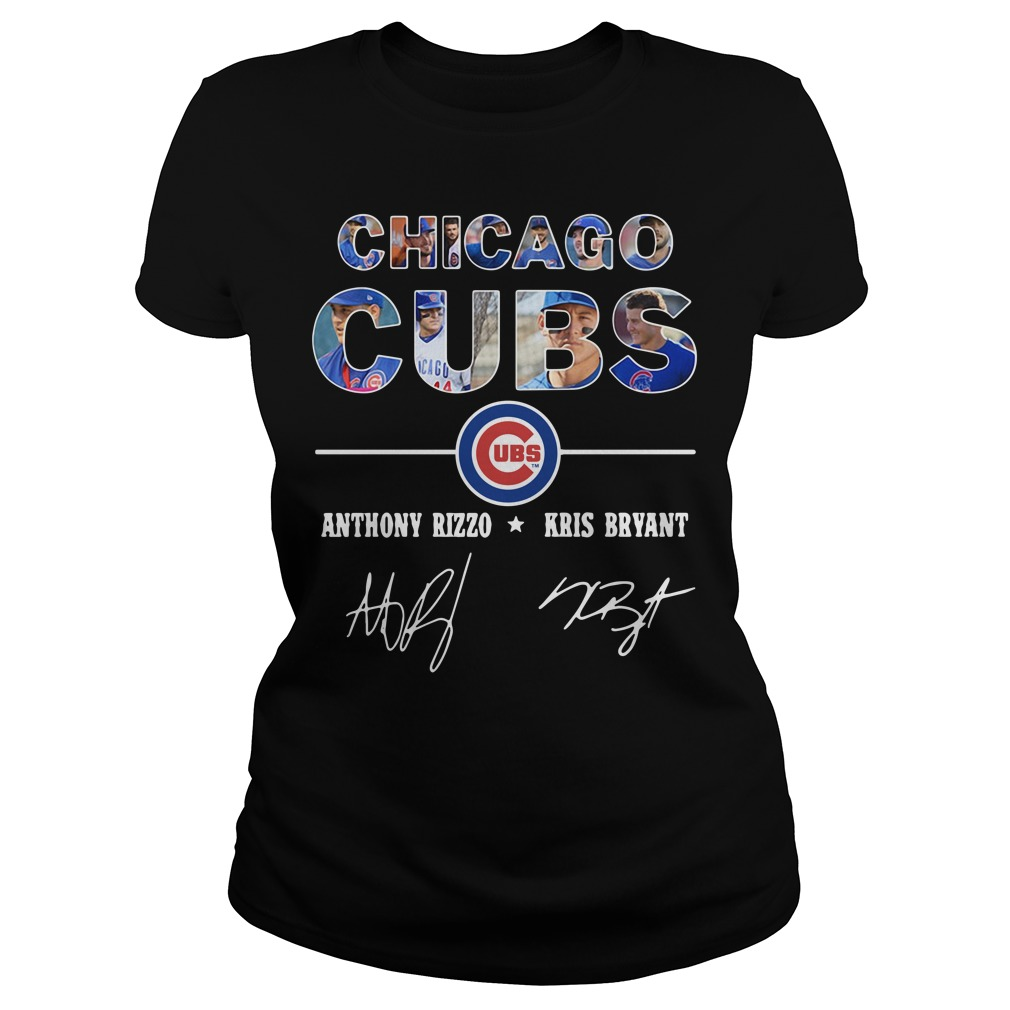 Chicago Cubs Anthony Rizzo And Kris Bryant Ladies Tee