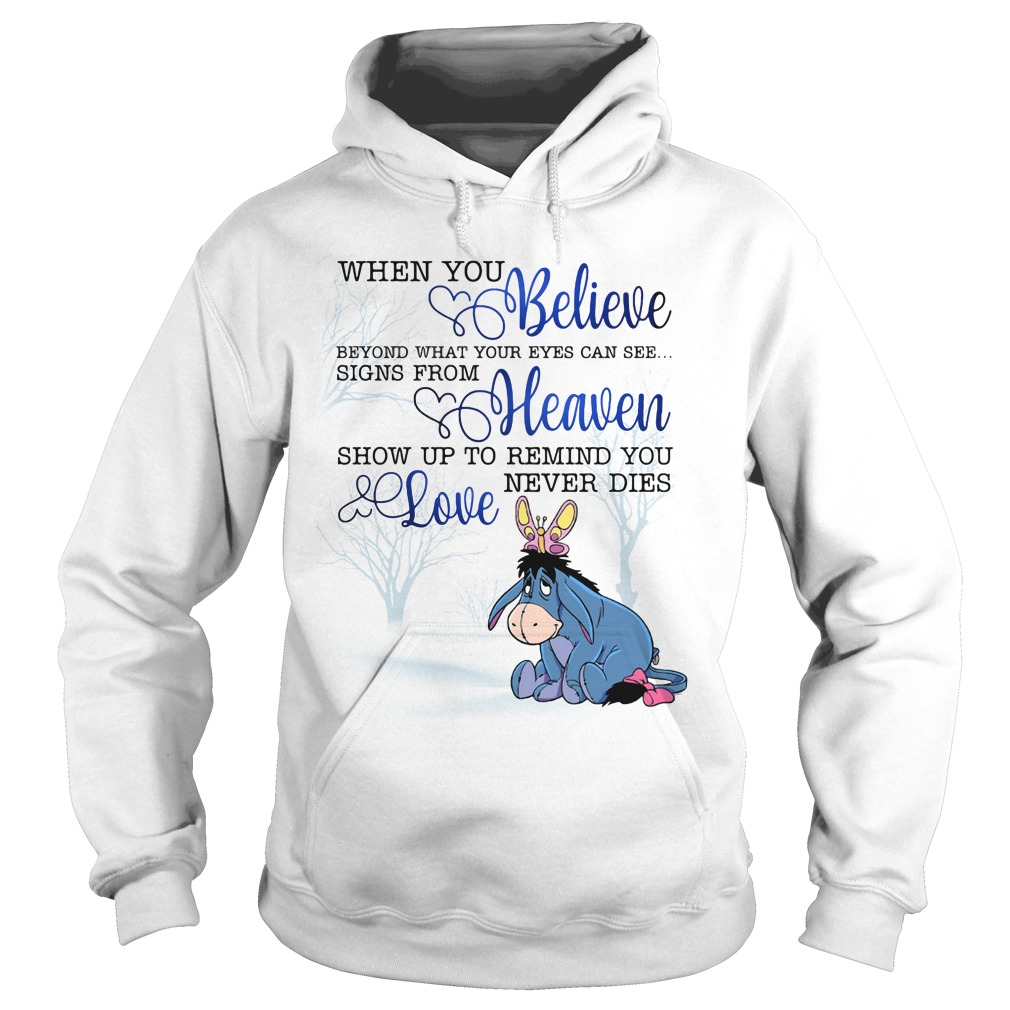 Eeyore When You Believe Beyond What Your Eyes Can See Hoodie
