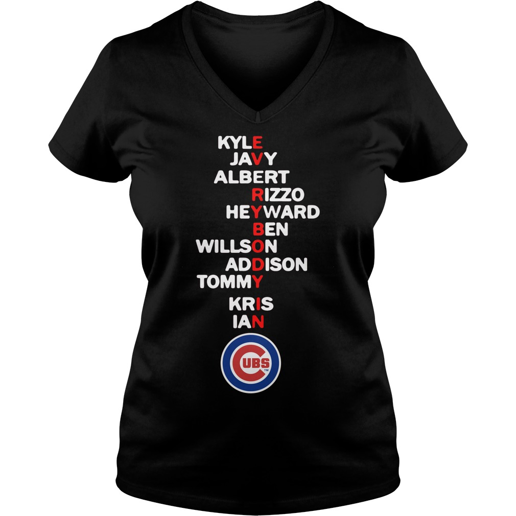 Everybody In Kyle Javy Albert Rizzo Heyward Ben Willson Addison V Neck T Shirt