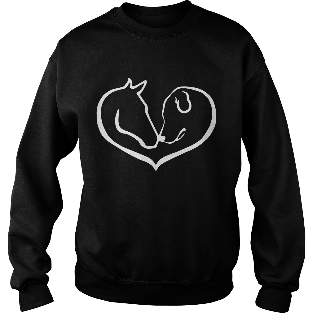 Horse And Dog Shape Of Heart Sweater
