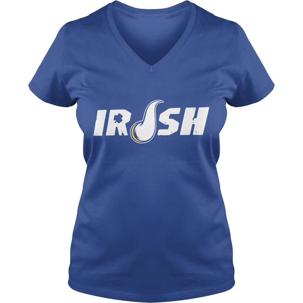 Irish Minnesota Vikings V-neck T-shirt