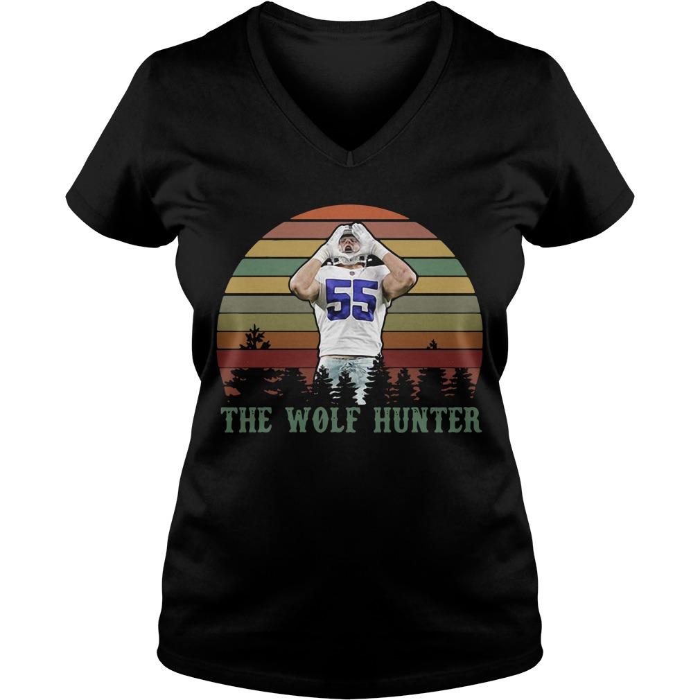Leighton Vander Esch The Wolf Hunter Sunset V-neck T-shirt