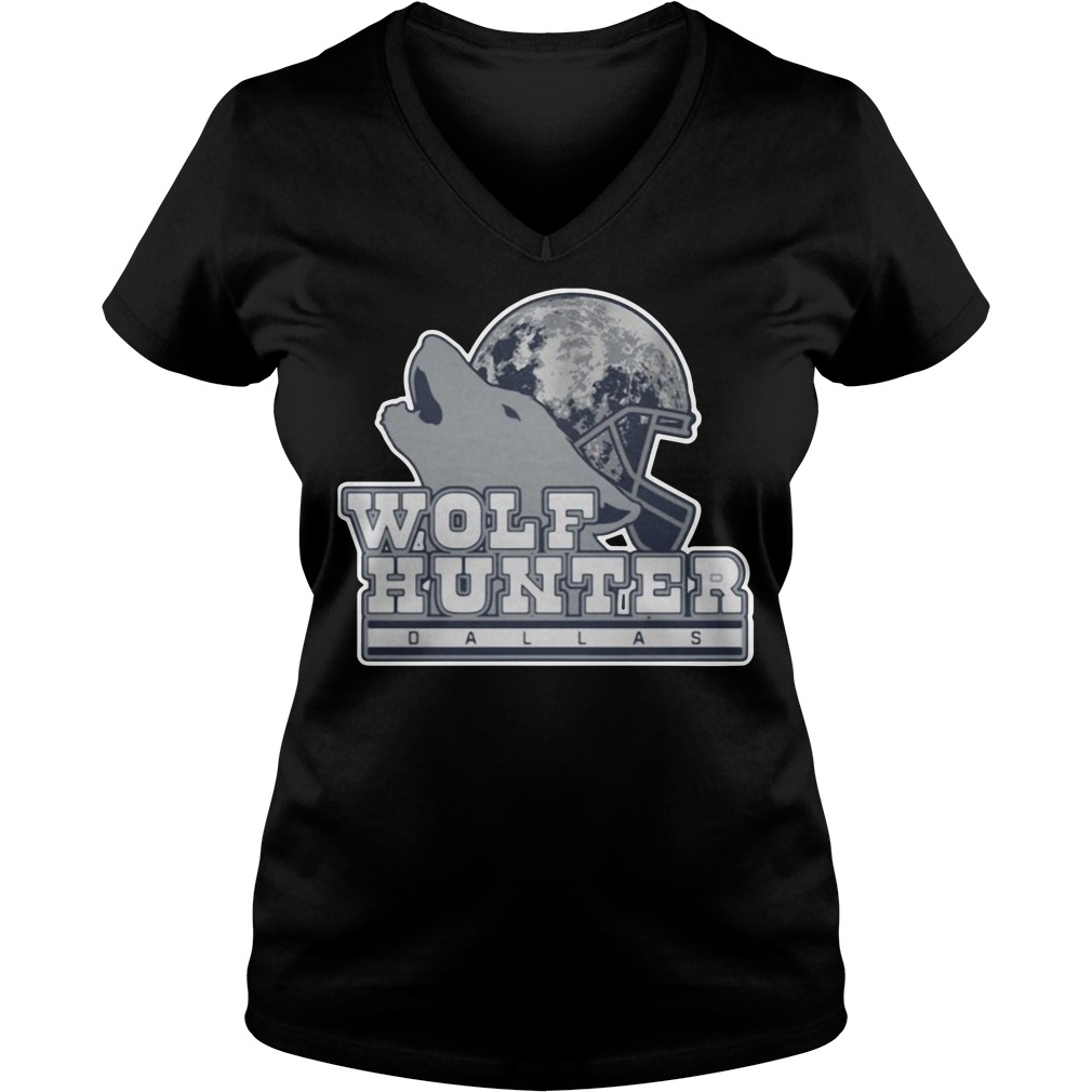 Leighton Vander Esch Wolf Hunter Dallas V-neck t-shirt
