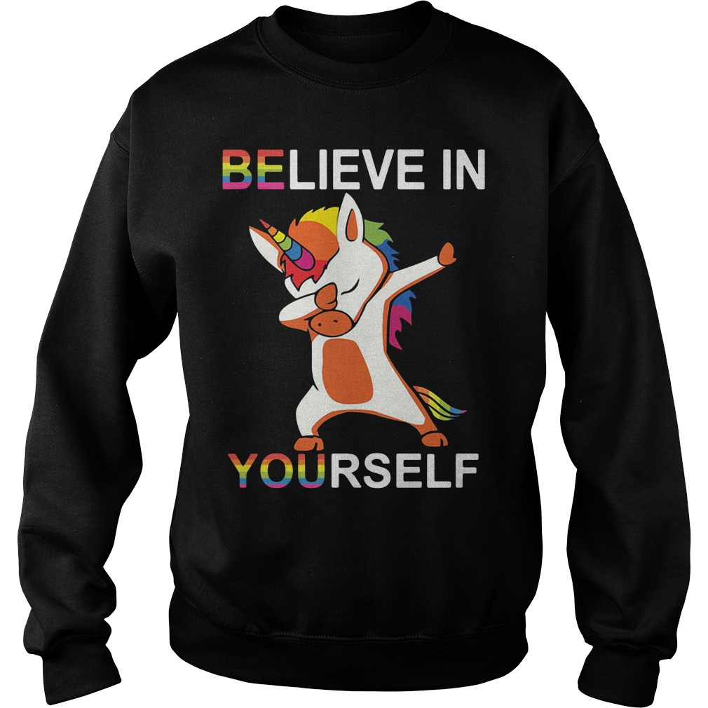 Lgbt Unicorn Dabbing Believe In Yourself Sweater