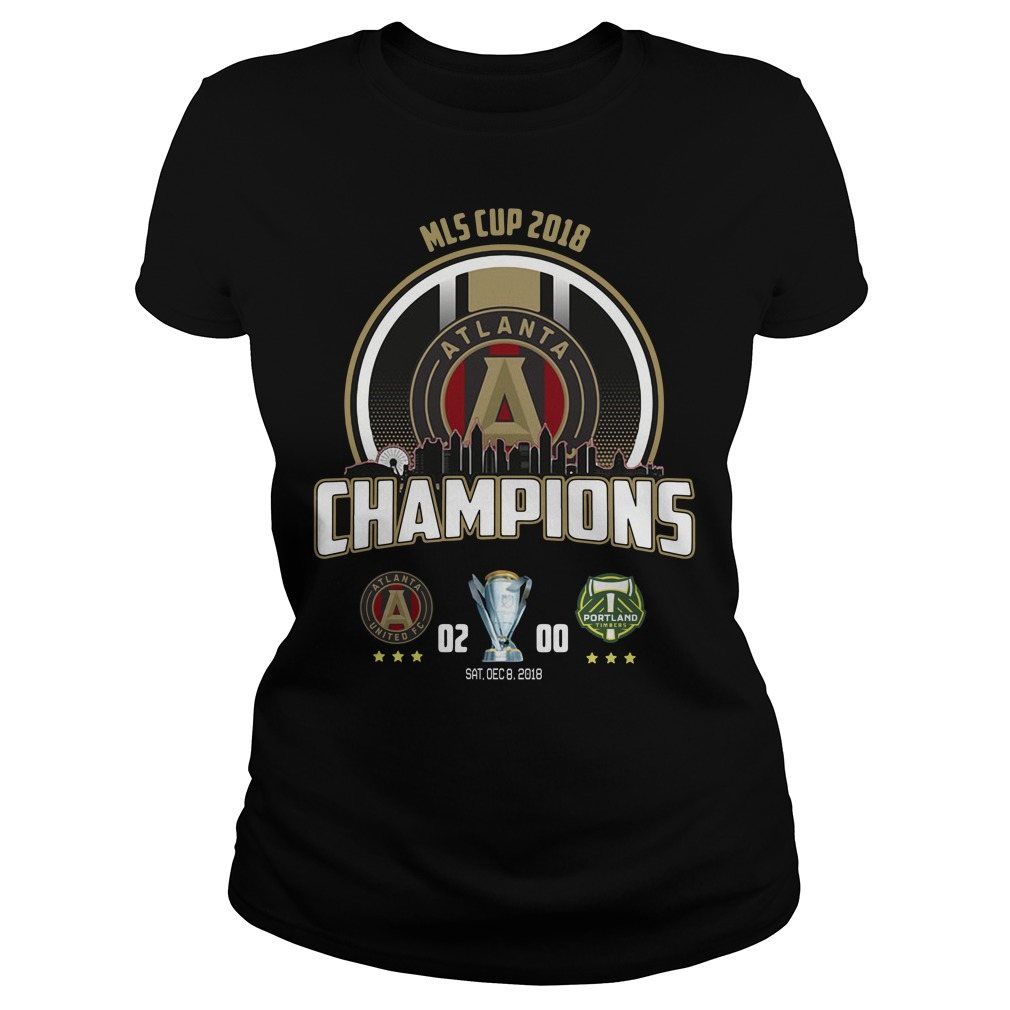 Mls Cup 2018 Atlanta United Fc Champions Ladies Tee