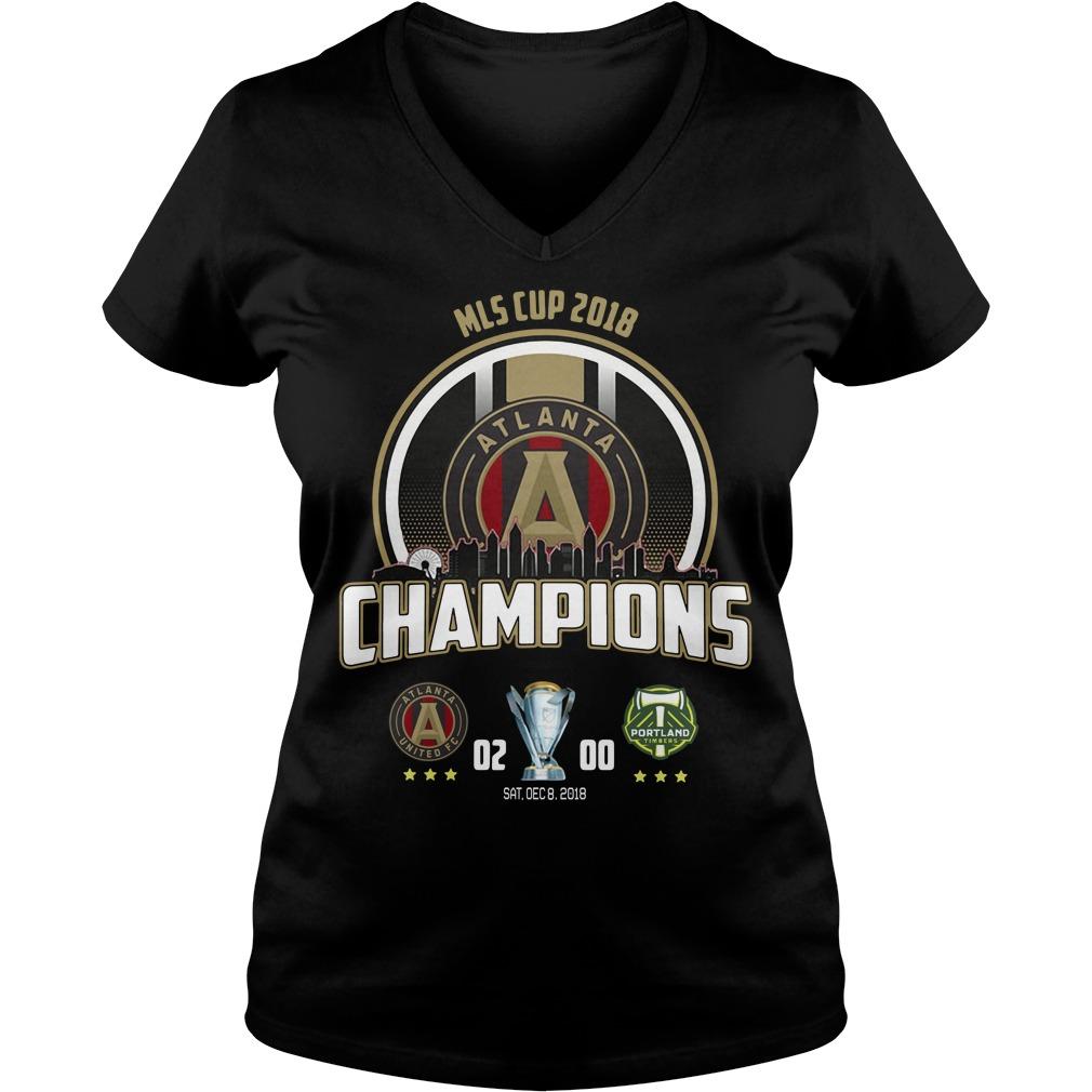 Mls Cup 2018 Atlanta United Fc Champions V-neck T-shirt