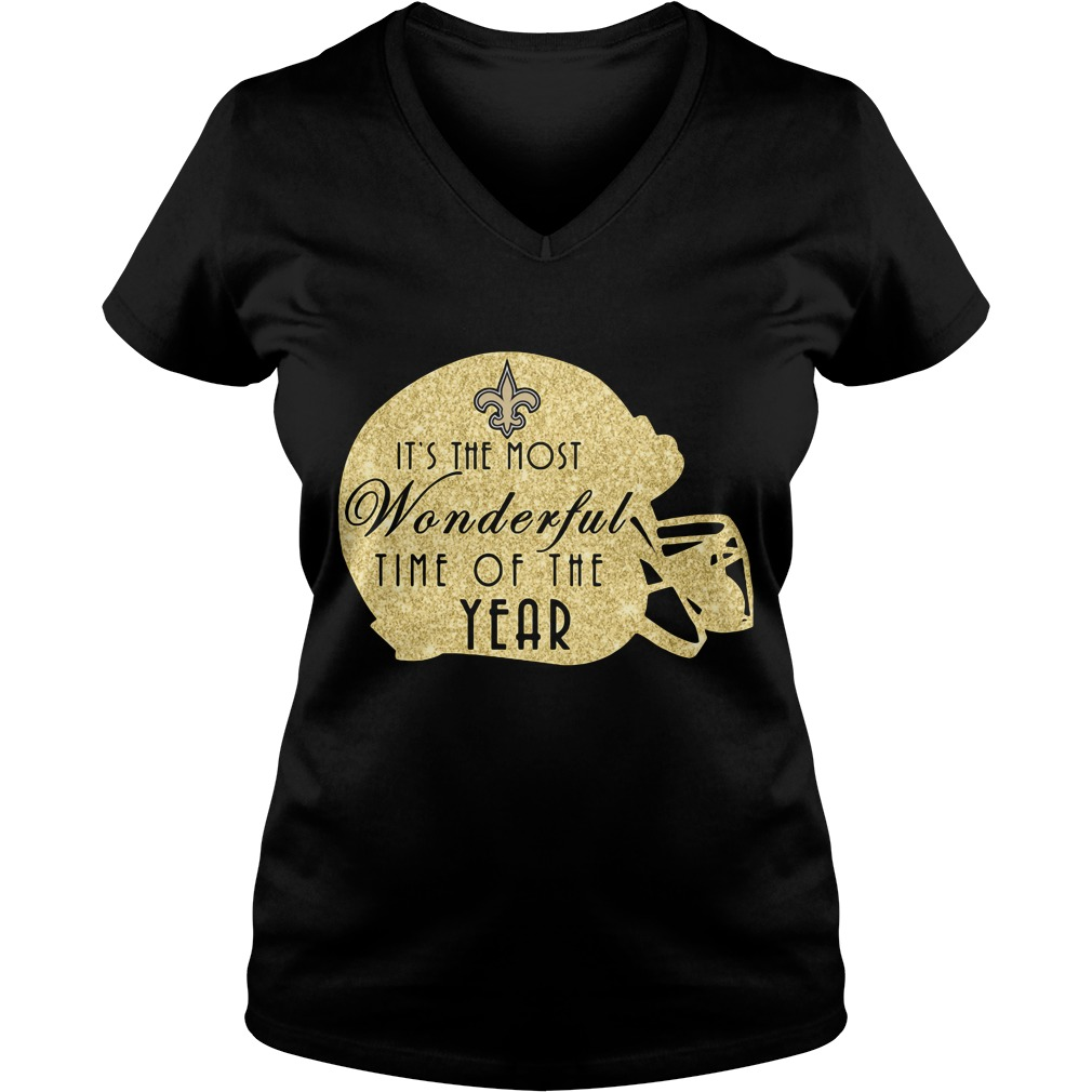 New Orleans Saints It's The Most Wonderful Time Of The Year V-neck T-shirt