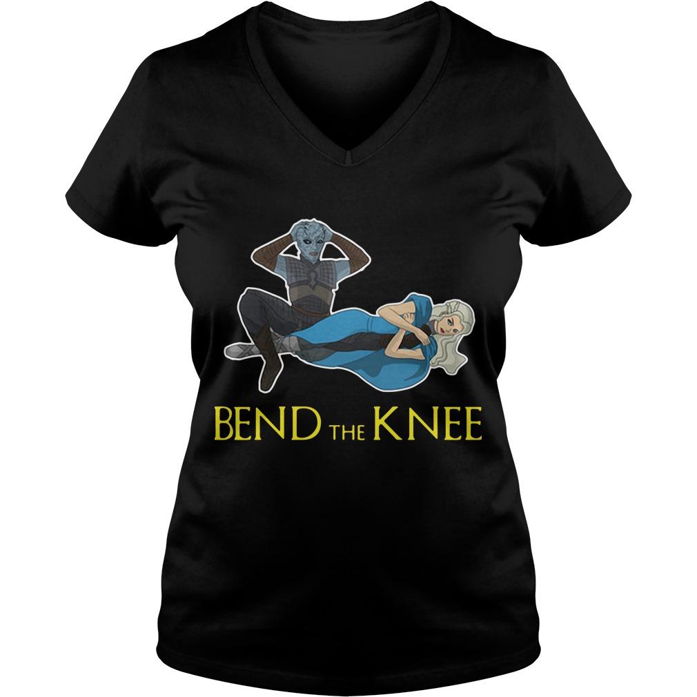 Night King Daenerys Targaryen Bend The Knee V-neck T-shirt