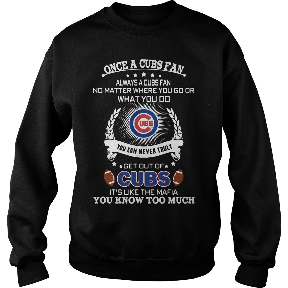 Once A Cubs Fan Always A Cubs Fan No Matter Where You Go Sweater