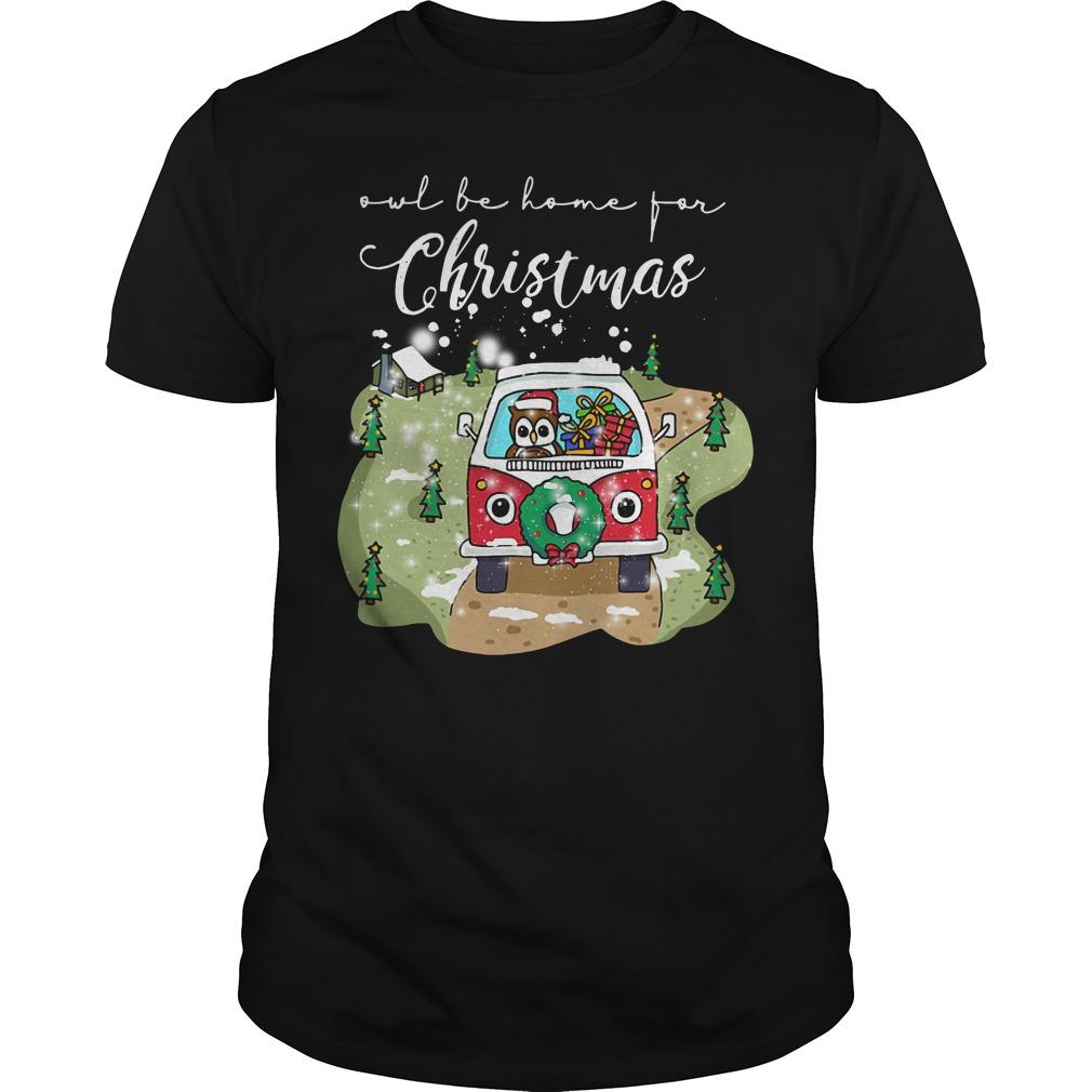 Owl Be Home For Christmas Ugly Guys Shirt