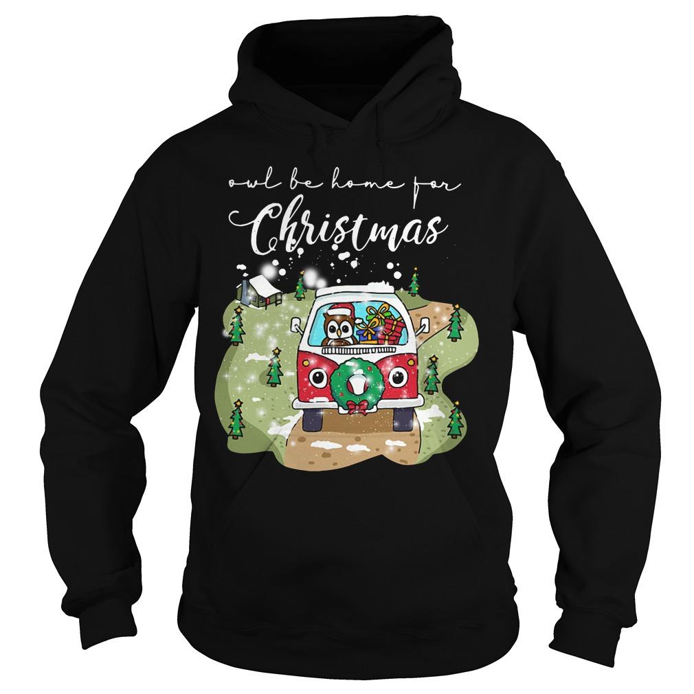 Owl Be Home For Christmas Ugly Hoodie
