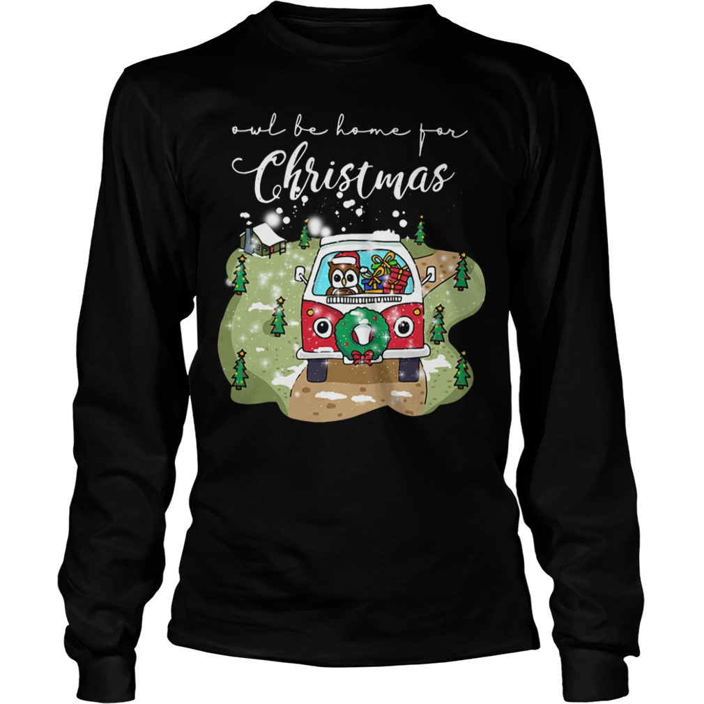 Owl Be Home For Christmas Ugly Longsleeve tee