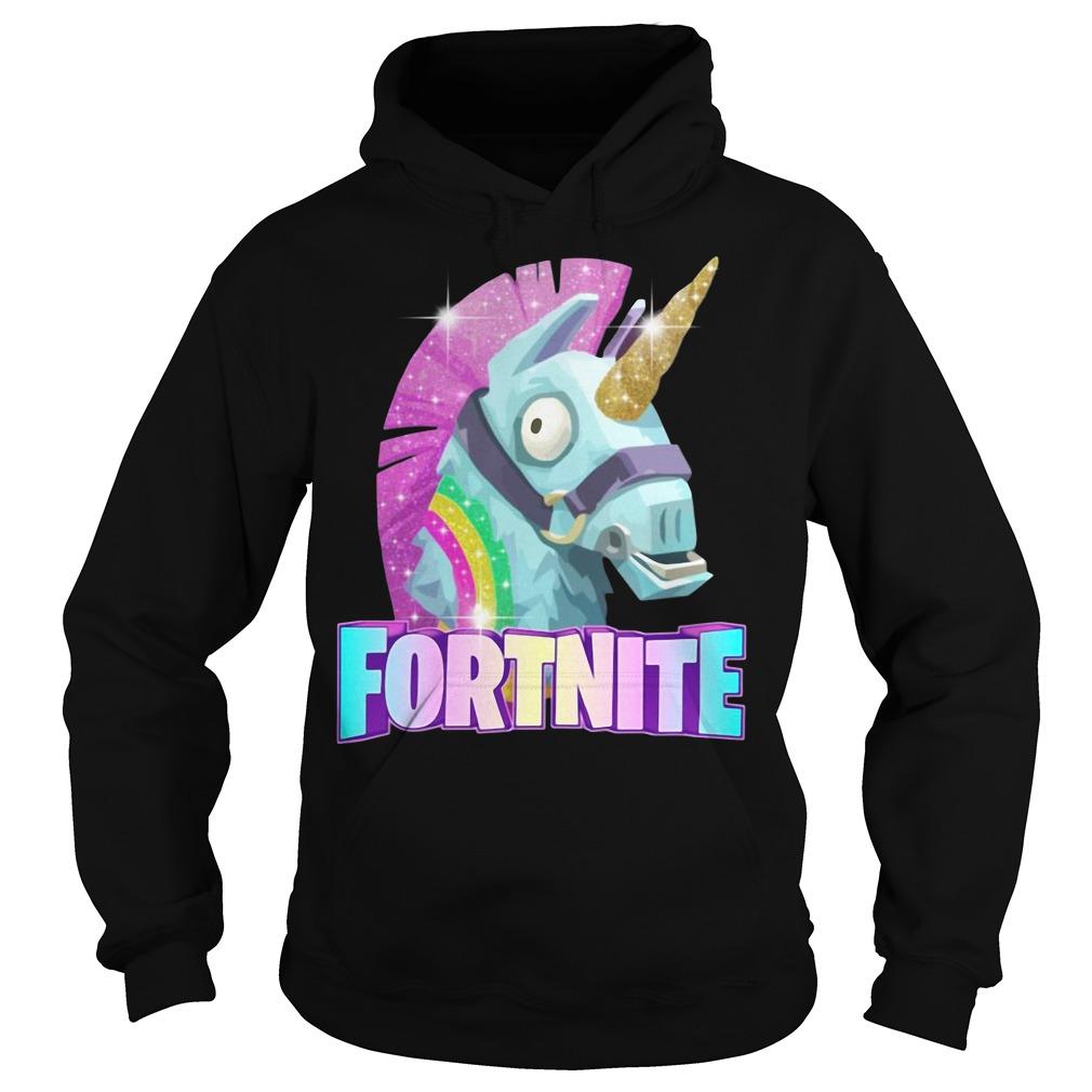 Rainbow Llama Unicorn Fortnite Christmas Ugly Hoodie