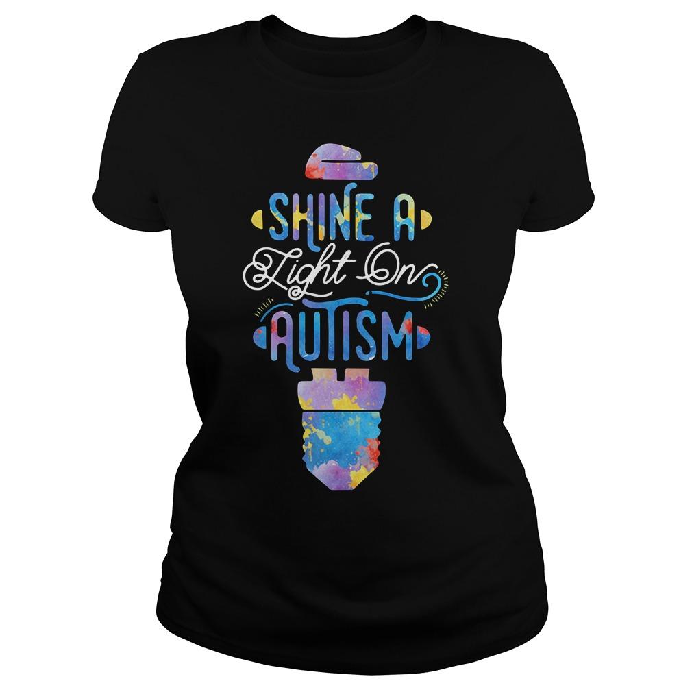 Shine A Light On Autism Ladies Tee