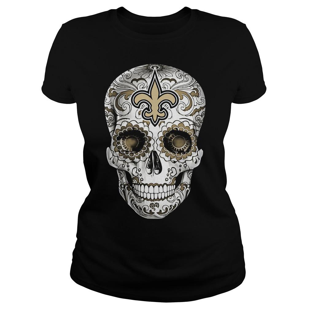 Skull New Orleans Saints Ladies Tee