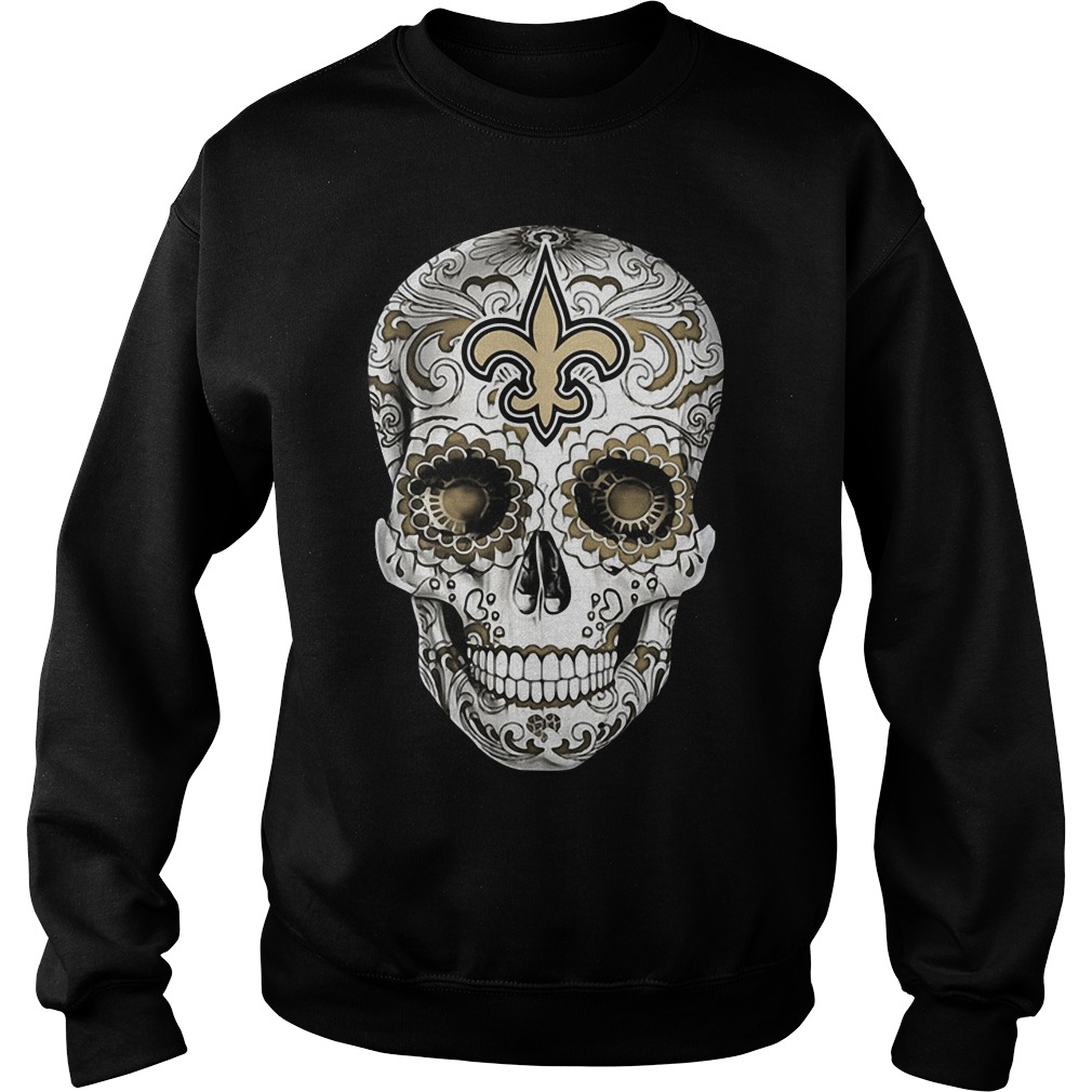 Skull New Orleans Saints Sweater