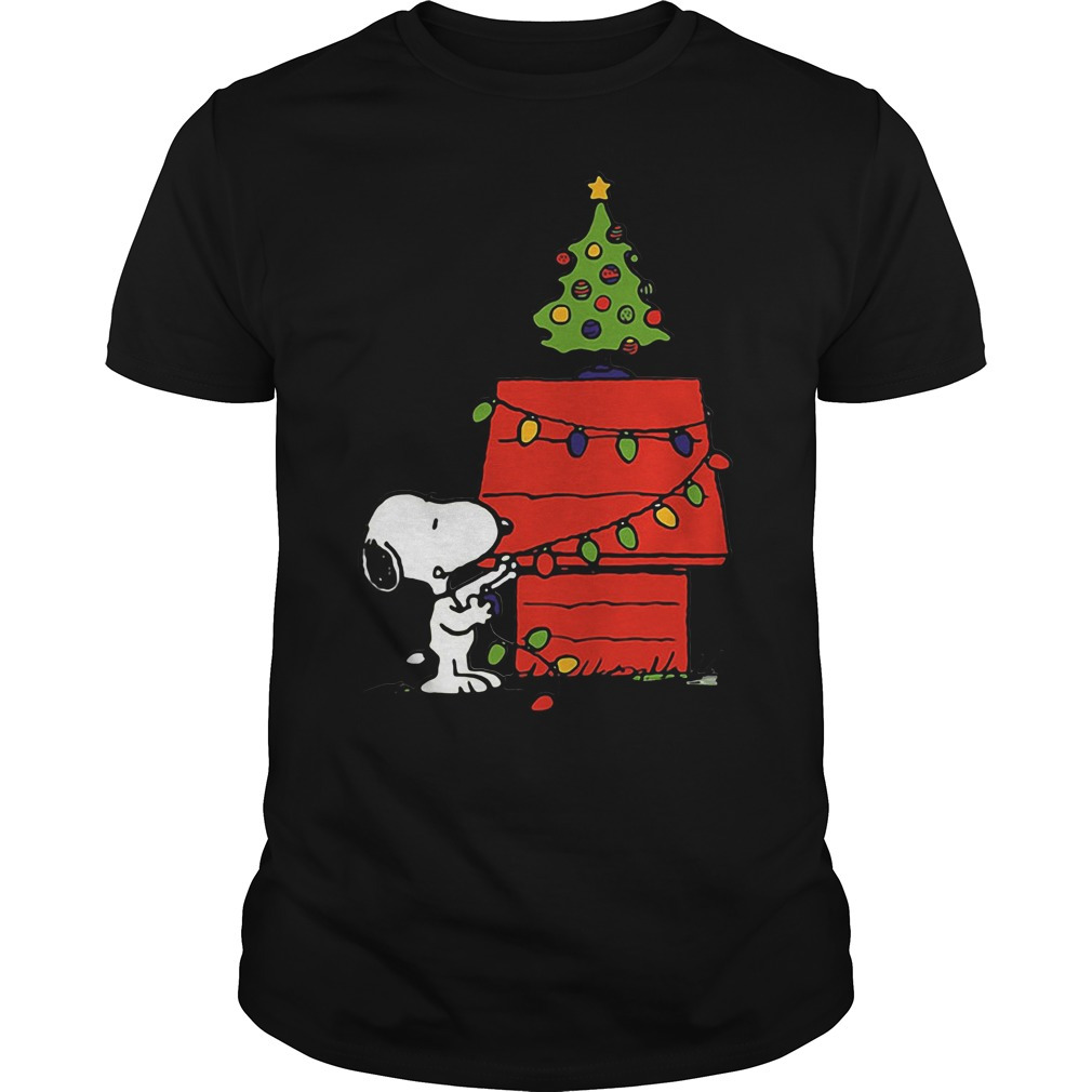 Snoopy House Lights Tree Christmas Ugly Guys Shirt