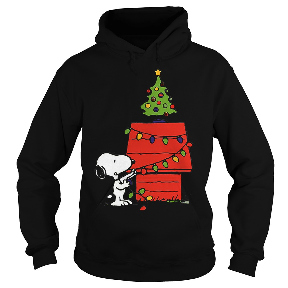Snoopy House Lights Tree Christmas Ugly Hoodie