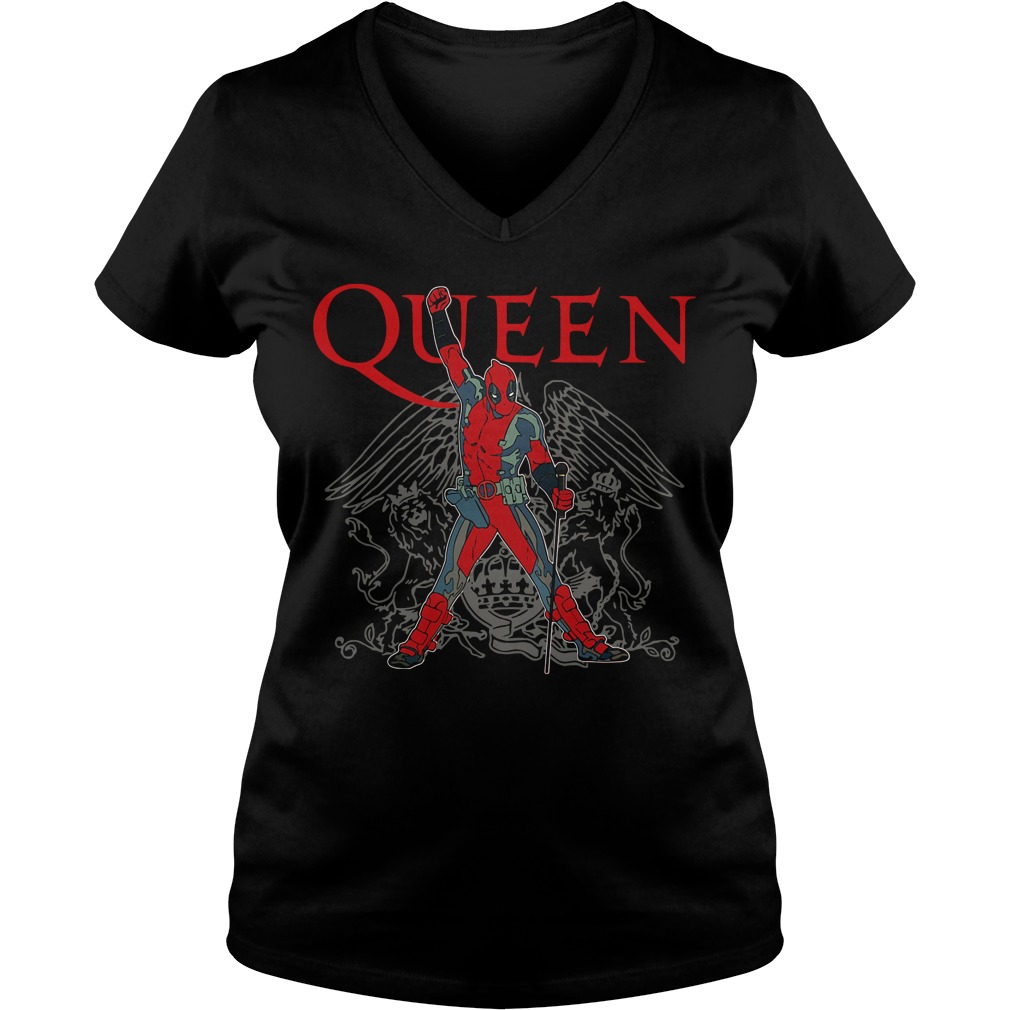 The Queen Freddie Mercury Deadpool V-neck T-shirt