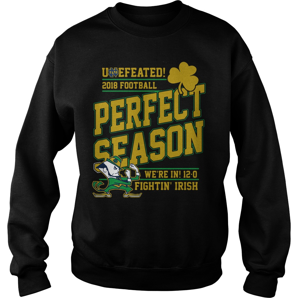 Undefeated 2018 Football Perfect Season We're In 12 0 Fightin' Irish Sweater