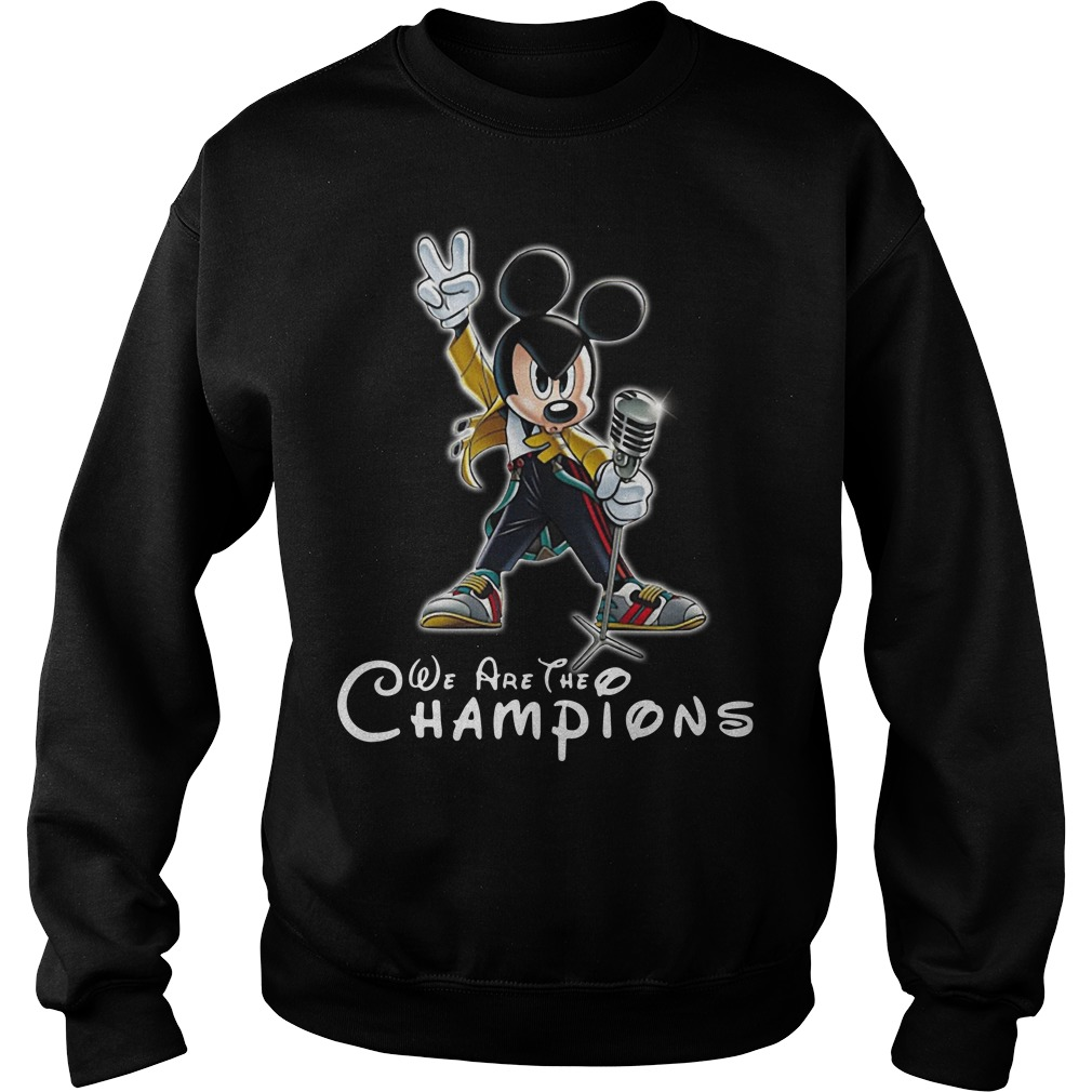 We Are The Champions Queen Mickey Freddie Mercury Sweater