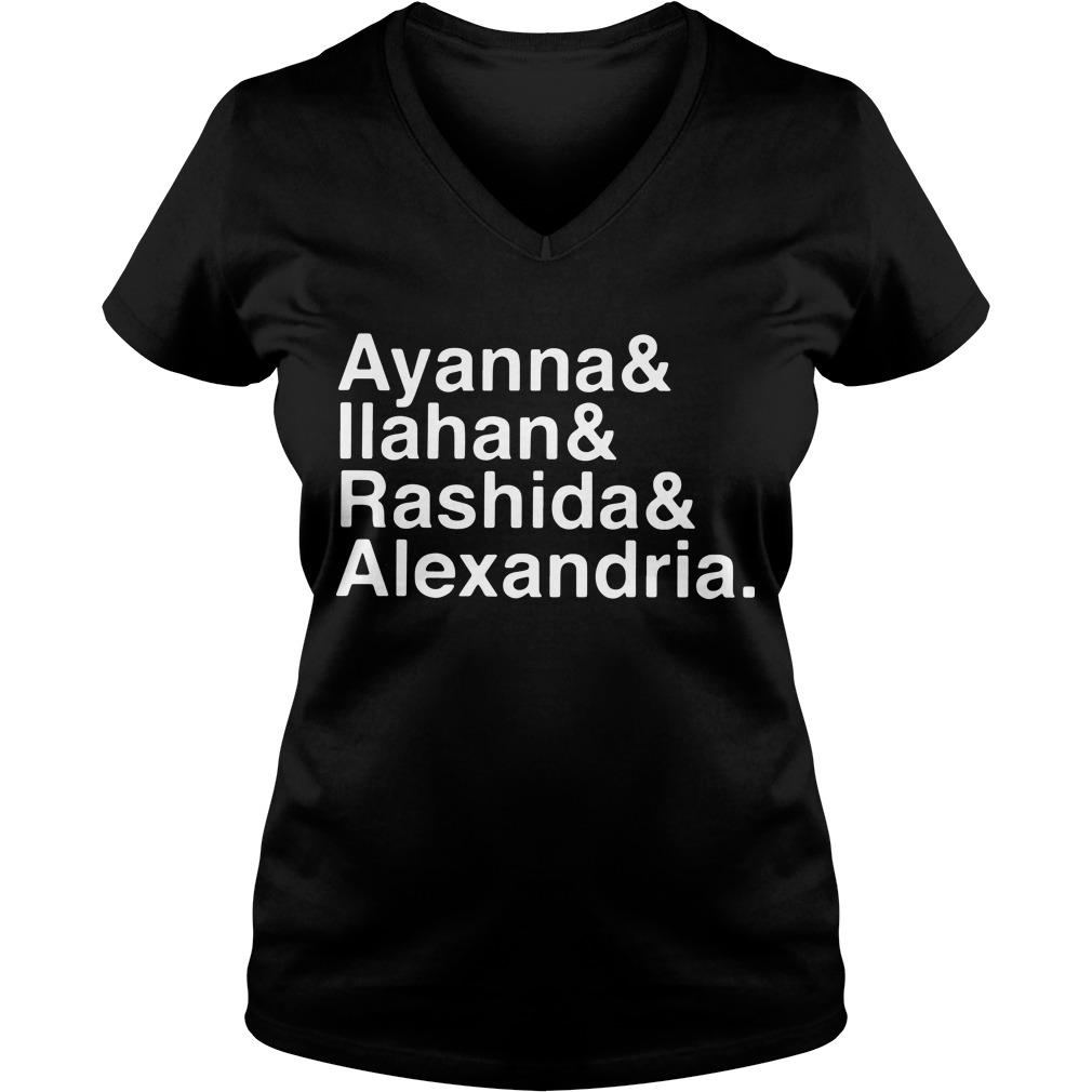 Ayanna Ilahan Rashida Alexandria V-neck T-shirt