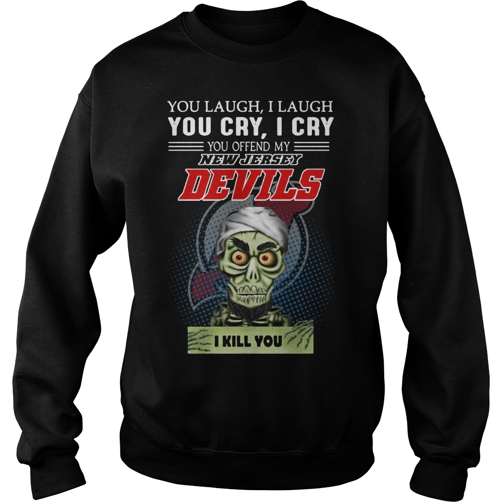 Jeff Dunham Laugh Laugh Cry Cry Offend New Jersey Devils Sweater
