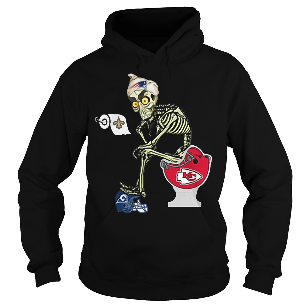 Jeff Dunham Puppet New England Patriots Toilet Hoodie