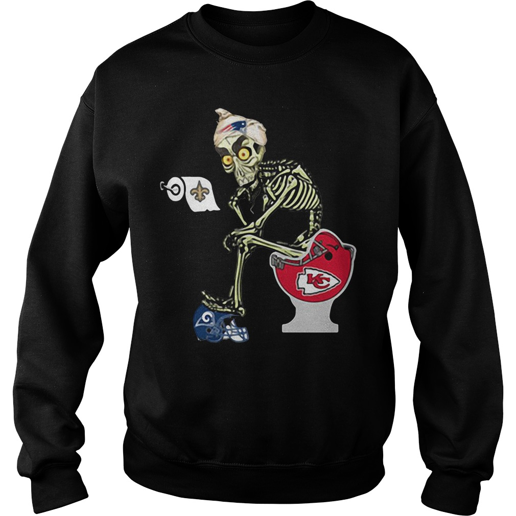 Jeff Dunham Puppet New England Patriots Toilet Sweater