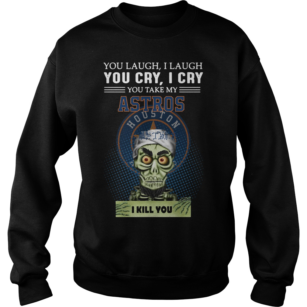 Jeff Dunham Puppet You Laugh I Laugh You Cry I Cry Houston Astros Sweater