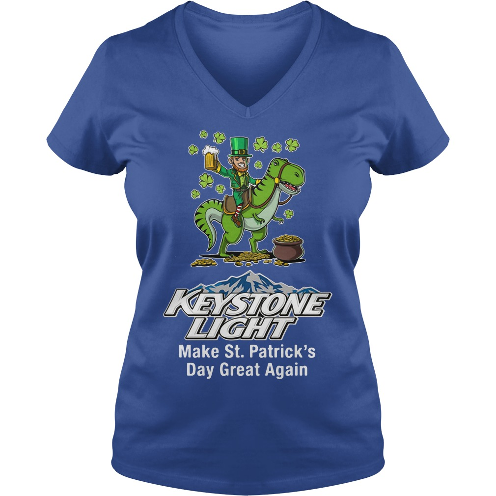 Keystone Light Make St. Patrick's Day Great Again V-neck T-shirt