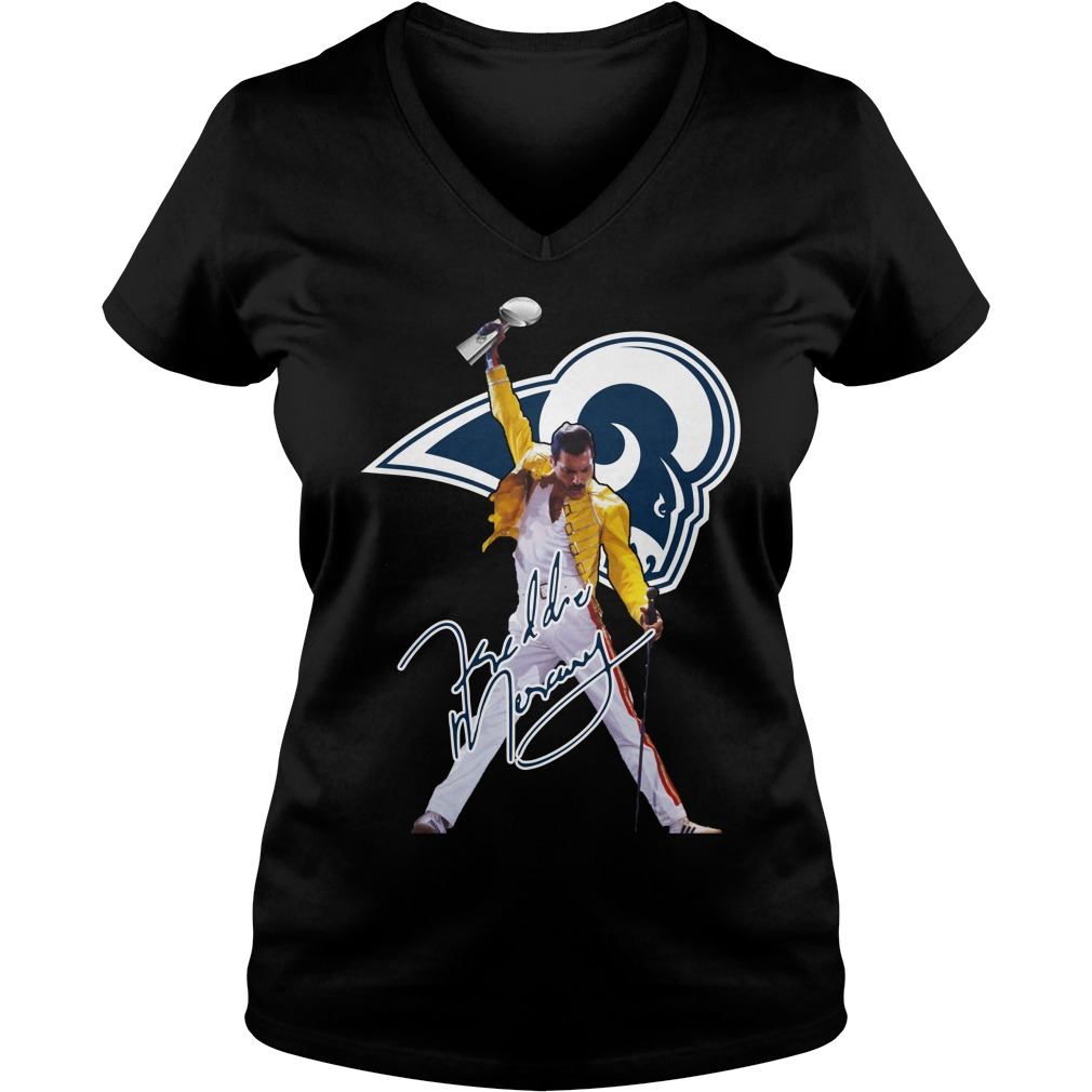 Los Angeles Rams Freddie Mercury V-neck T-shirt
