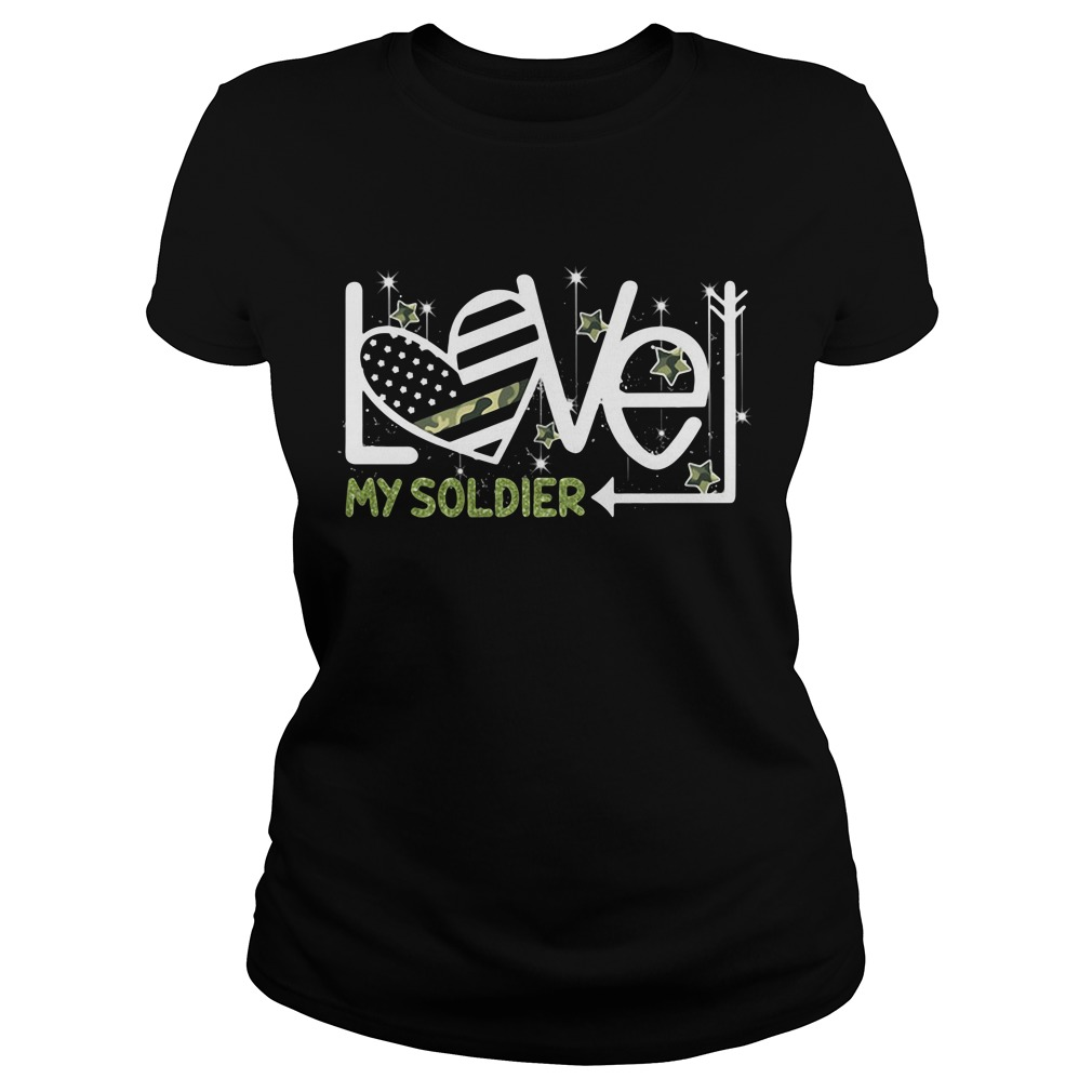 Love My Soldier Ladies Tee
