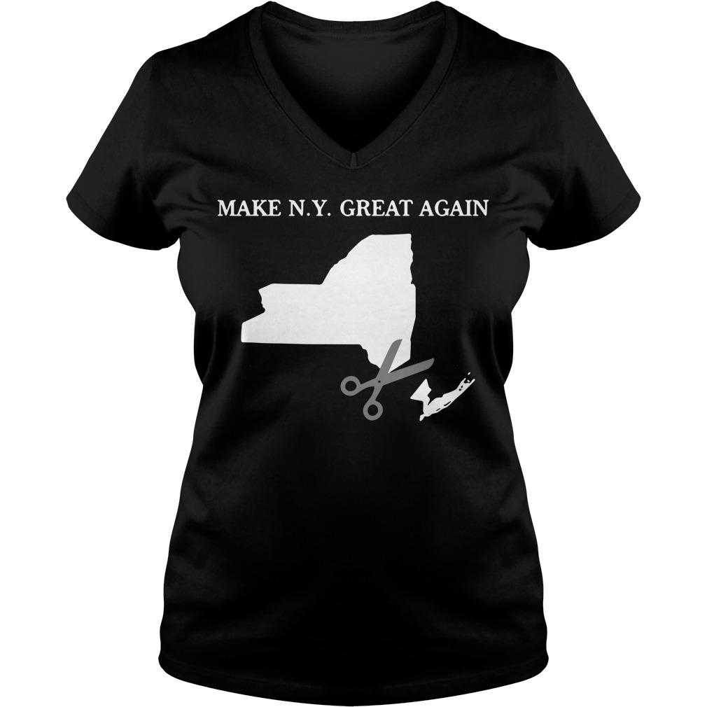Make New York Great Again V-neck T-shirt